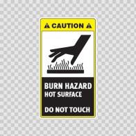 Caution Burn Hazard. Hot Surface. Do Not Touch. 19414