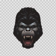Scary Gorilla Head Screaming 22841