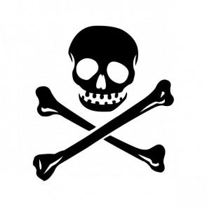 Crossbone Skull 00767