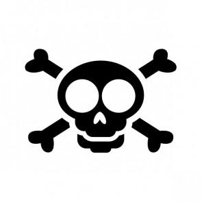 Crossbone Skull 00772