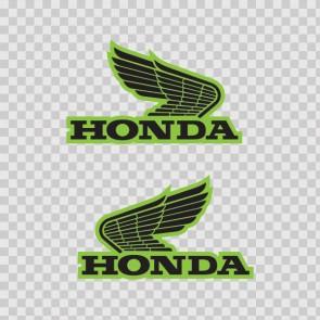 Pair Of Honda Wings Logo 01130