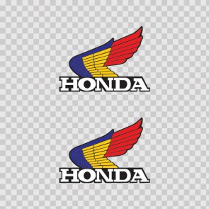 Honda Blue Yellow Red Logo 01642