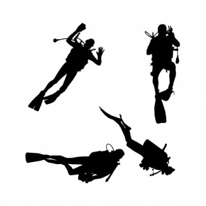 Scuba Collection Of 4 Divers 01813