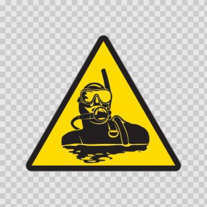 Caution Scuba Diving 01871