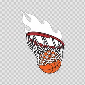 Basketball Hoop Nets Flames 02023
