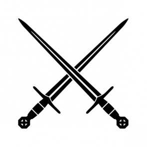 Knight Cross Swords 02151