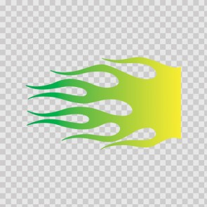 Fire Flame Yellow Green 02350