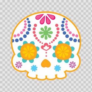 Flower Power Skull 02401