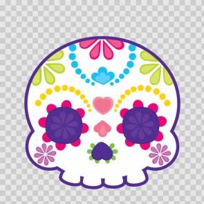 Flower Power Skull 02403