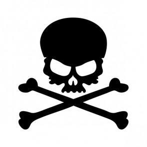 Cross Bones Skull 02549