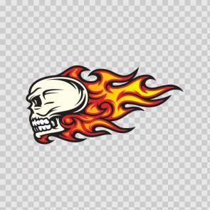 Flames Skull 02582