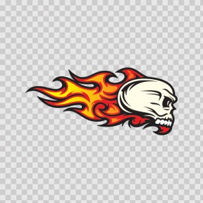 Flames Skull 02585