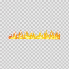 Long Horizontal Natural Flame 02692
