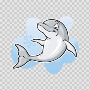 Cartoon Dolphin 03097