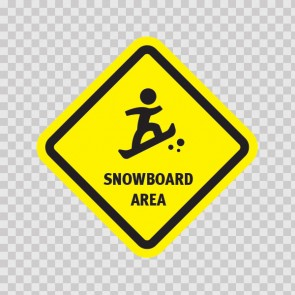 Snowboard Area Sign 03218