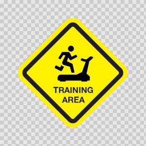 Training Area Sign 03220