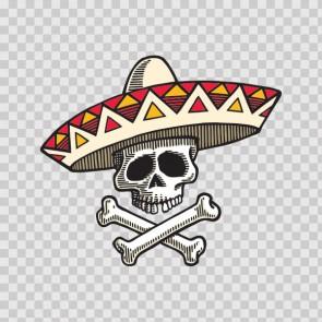 Mexican Crossbones Skull 03238