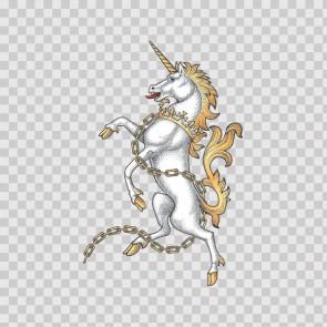Horse Unicorn Heraldic 03285
