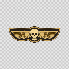 Racing Skull With Wings 03297