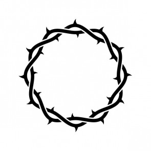 Jesus Crown Of Thorns Stylized Shape 03681