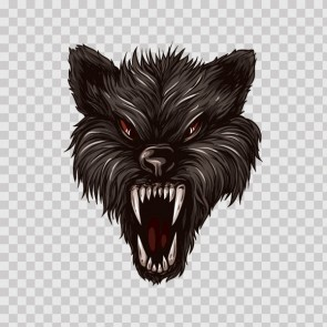 Angry Wolf Head 04668
