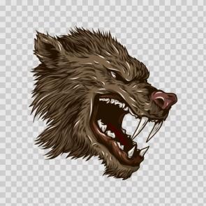 Angry Wolf Head 04669