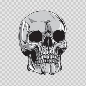 Gray Black Skull 04898
