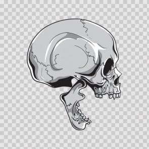 Gray Black Skull Smile 04899