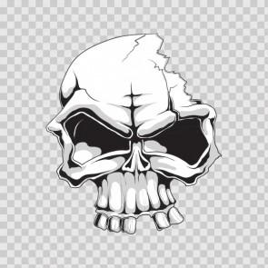 Gray Black Skull 04907