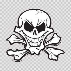 Crossbones Skull 04942