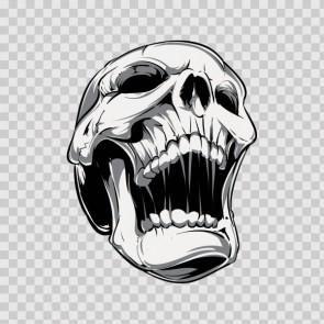 Gray Black Skull 04974