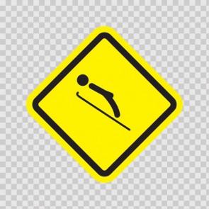 Ski Sports Area Sign 05007