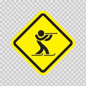Ski Sports Area Sign 05008