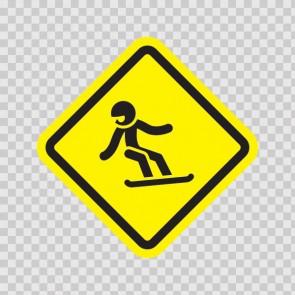 Ski Sports Area Sign 05010