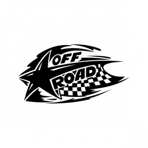Chequered Tribal Speed Racing Design Off Road 05049