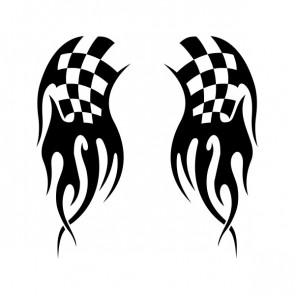 Chequered Tribal Speed Racing Design 05050