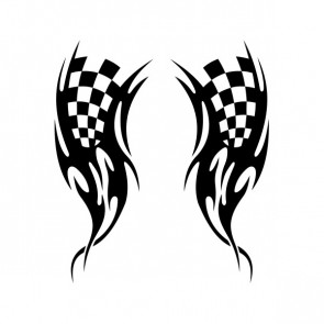 Chequered Tribal Speed Racing Design 05051
