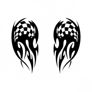 Chequered Tribal Speed Racing Design 05053