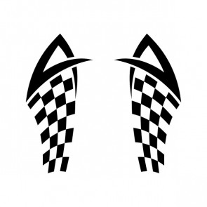 Chequered Tribal Speed Racing Design 05054