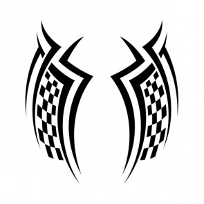 Chequered Tribal Speed Racing Design 05055