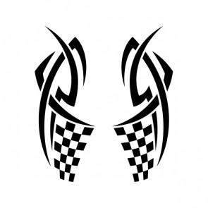 Chequered Tribal Speed Racing Design 05058