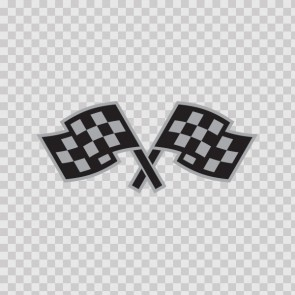 Racing Chequered Flag Gray 05073