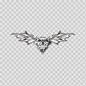 Cartoon Devil Evil Satan Hell Skull With Wings 05172