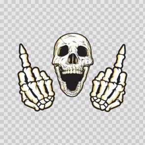 Middle Finger Skull 05180