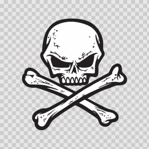 Crossbones Skull 05189