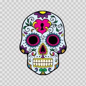 Floral Skull 05195