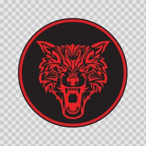 Red Wolf Head 05217