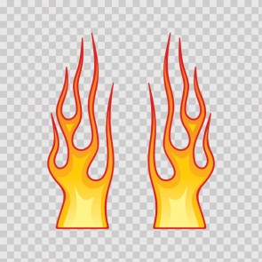 Pair Of Color Flames 05713