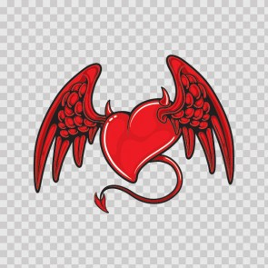 Heart With Devil Wings  05722