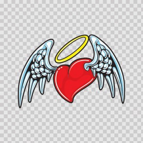 Heart With Angel Wings  05723